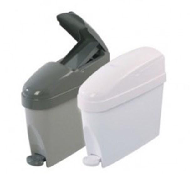 12 litre white mini sanitary bin sanitary bins from anglian chemicals - Lavish white and grey kitchen for hygienic and bright view ...