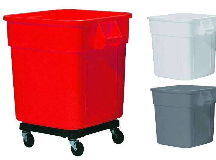 140 Litre square wheeled bin container