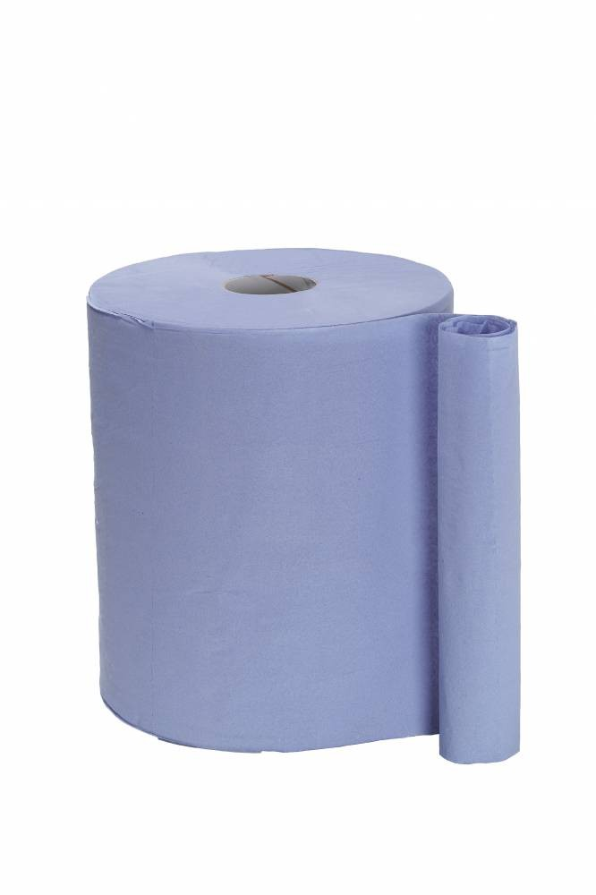 2 ply Blue Wiping Roll - Recycled