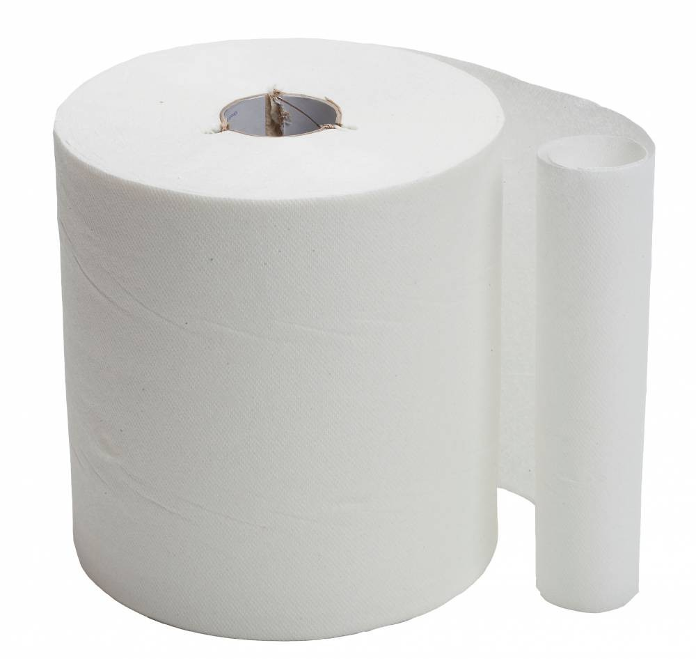 2 ply White Wiping Roll - Pure