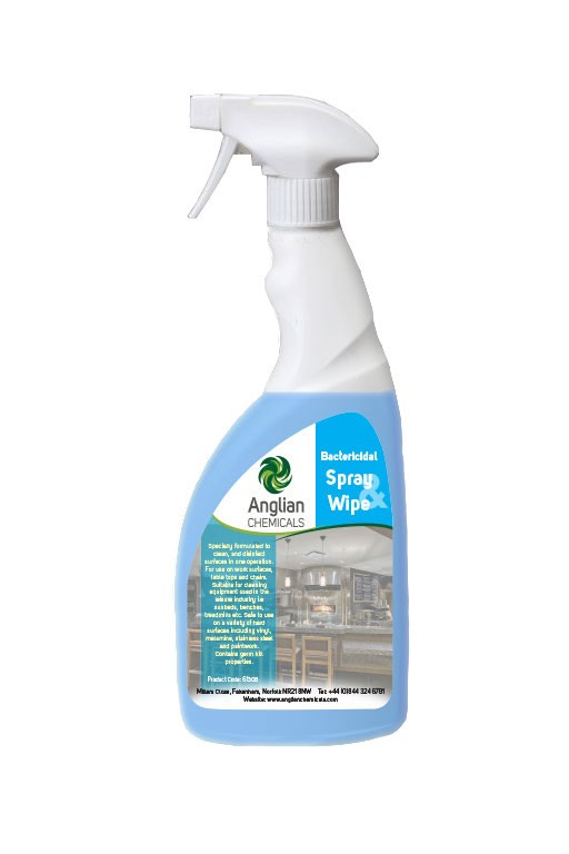 Bactericidal Spray & Wipe with fragrance