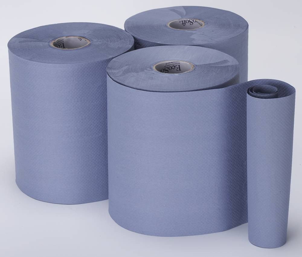 Bay West EcoSoft Blue Hand Towel Roll