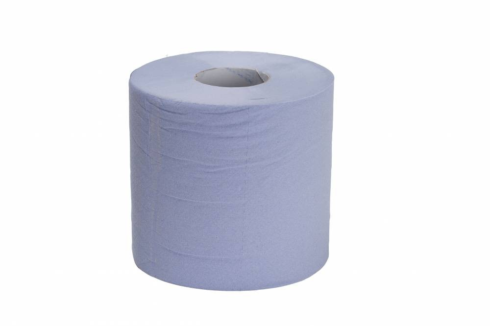 Blue 1 Ply Centre Feed - Recycled