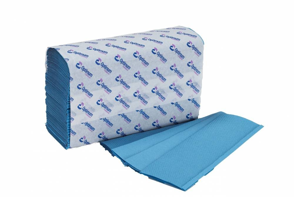 Blue 1 Ply Z-Fold Hand Towel