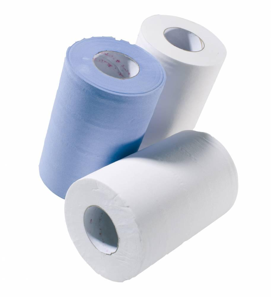 Blue 2 ply Mini Centre Feed - Recycled