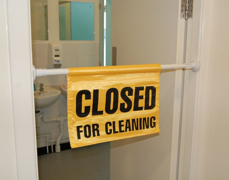 Closed For Cleaning Door Sign