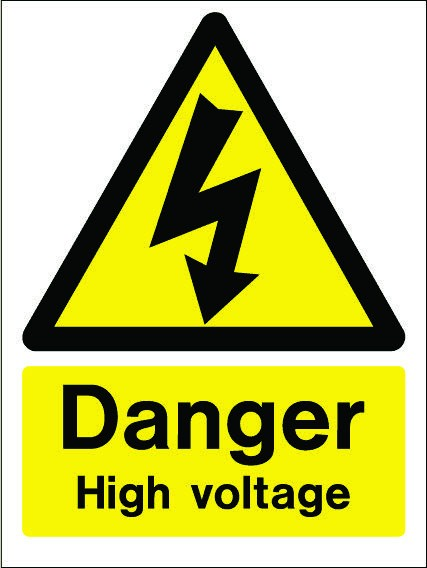 Danger High Voltage - PPE Sign