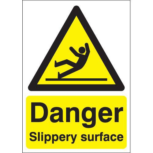 Danger Slippery Surface Ppe Sign Safety Sign From