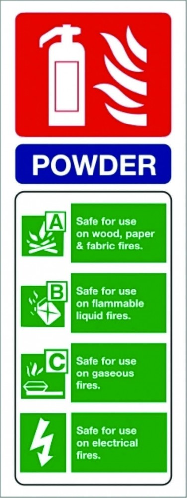 Dry Powder Extinguisher Ppe Sign Fire Equipment Signs