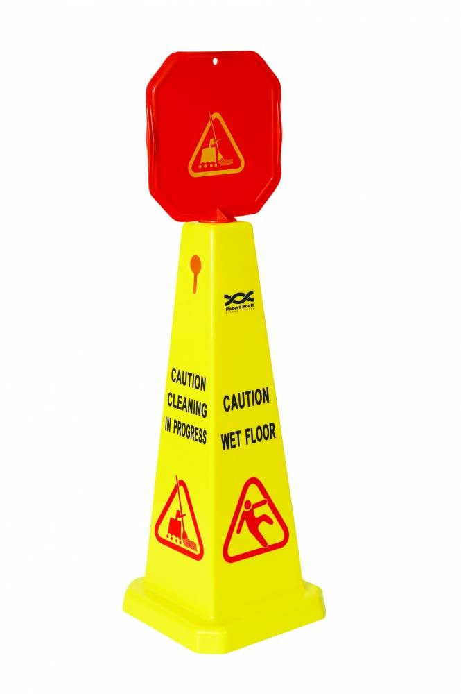 Dual Yellow Caution Cone