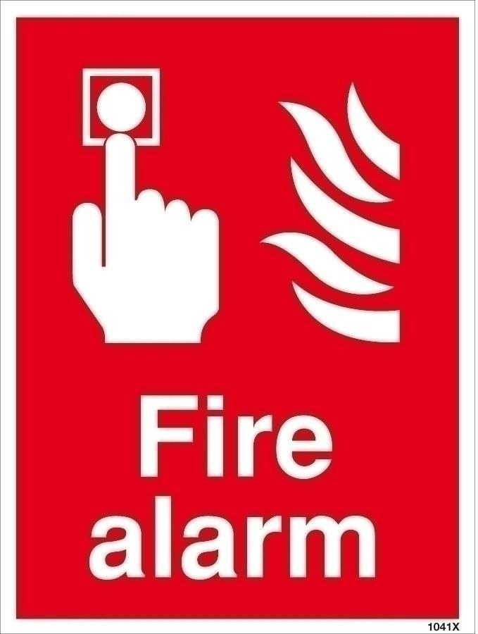 Fire Alarm PPE Sign