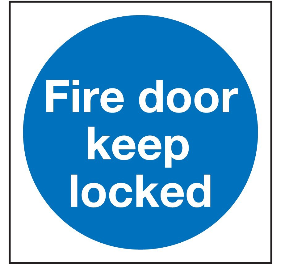 Fire Door Keep Locked Ppe Sign Safety Sign From Anglian