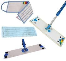Microfibre Mopping - Economy damp mop sleeves