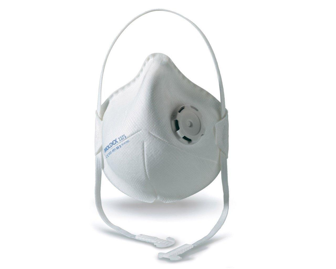 Non-valved dust mask for toxic dust