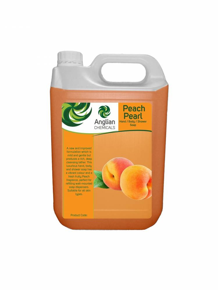 Peach Pearlised Hand & Body Soap - 5 Litre