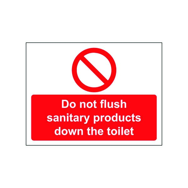 Please Do Not Put Sanitary Waste Down The Toilets