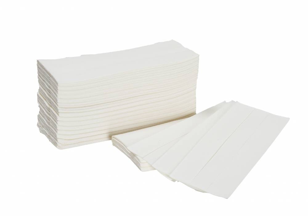 White 2 Ply Airline Hand Towel