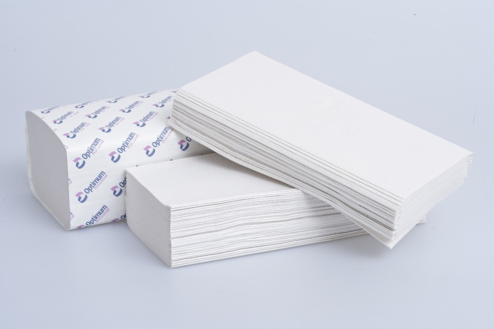 White 2 Ply V-Fold Hand Towel